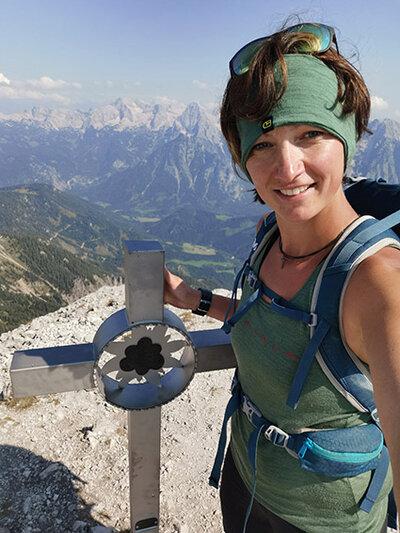 Nicole Bernögger bei ihrem liebsten Hobby
